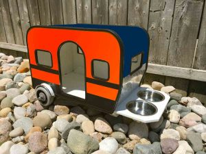 Custom Dog House in Detroit Tigers colors