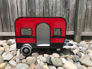 Side View of RV Dog Crate
