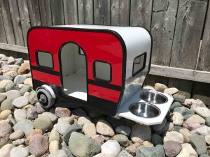 Angled Side door view of RV Dog House