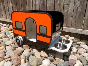 Custom Dog House in Harley Davidson colors