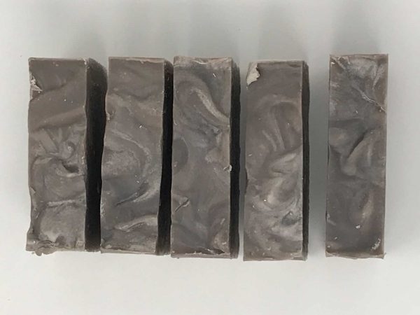 Top View of 5 bars of Sandalwood Soaps