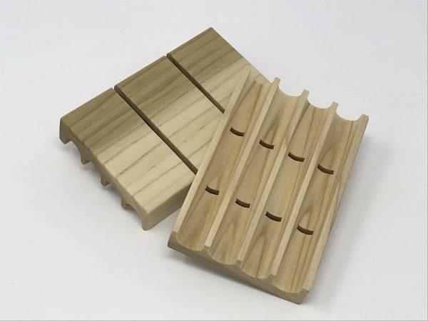 Poplar wood soap dish
