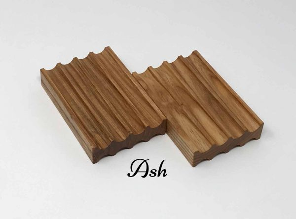 Ash soap dish with curve and beautiful wood grain