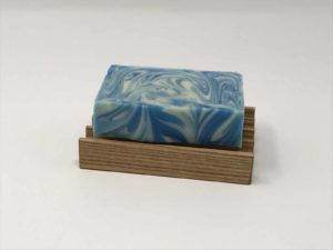 Handmade soap dish for tall soaps