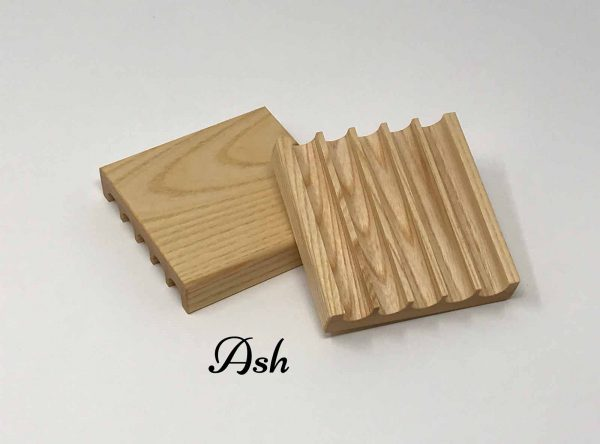 handmade soap dish from ash wood